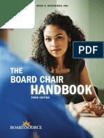 The Board Chair Handbook Mindy R. Wertheimer
