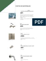 Costos de Materiales 1