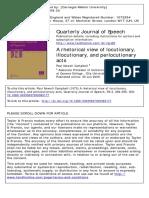 Campbell, 2009. a Rhetorical View on Austin Speech Acts