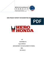 Hero Honda Mini Project Report