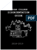 Vassar College Disorientation Guide 2018