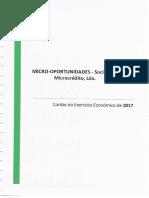 Relatório de contas do exercicio economico do ano_2017 Sociedade Micro Oportunidades.pdf