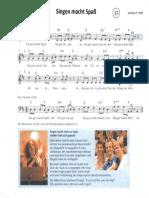Singen Macht Spass Und Gute Nacht Kanon Zu 3 Stimmen Noten- Und Textblatt