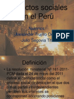 Conflictos Sociales en El Perú