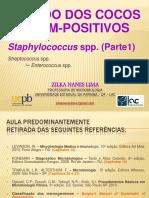 [Aula 9 - Microbiologia Básica - Profª. Zilka] Staphylococcus spp. (cocos Gram-positivos)