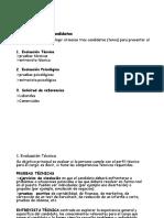 Clase N°3 Evaluación de los candidatos