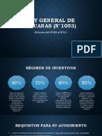 Régimen de incentivos ley aduanera Peru