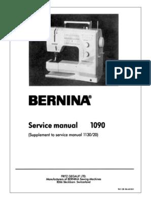 BERNINA 1090_SM_suppl  to manual 1130 pdf