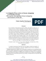 Forum Shopping y Fraude a La Ley