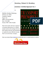 Transport Phenomena a Harry c 79355061