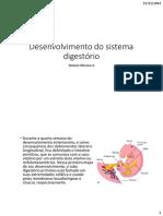 Desenvolvimento Do Sistema Digestorio
