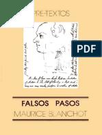 Blanchot, Maurice - Falsos pasos.pdf