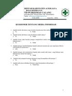 Kriteria 7.1.2 Ep 2 Kuesioner Tentang Media Informasi