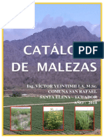 Catálogo de Malezas. Provincia de Santa Elena, Ecuador.