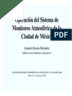Presentación Simat- Operación del Sistema de Monitoreo Atmosférico de la Ciudad de México
