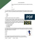 Simulado matemática ifrn