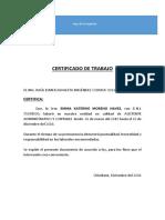 Certificado de Trabajo- Chisi