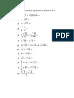 Problemario Algebra lineal