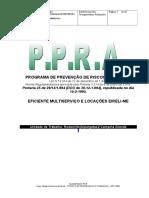 2013- PPRA Da Eficiente Para Rodomiles Que Presta Serviço Na Alpargatas Em Campina Grande