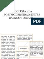 Iglesia y Posmodernidad Entre Rasgos y Desafio.