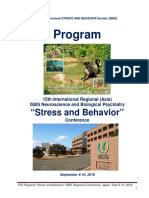 "Program - 15th International Neuroscience and Biological Psychiatry Regional (Asia) ISBS Conference ""STRESS AND BEHAVIOR"