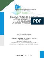 La Conciliación en el Perú - Compilación  Estudio Introductorio