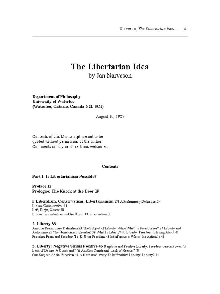 the libertarian idea | libertarianism | liberty
