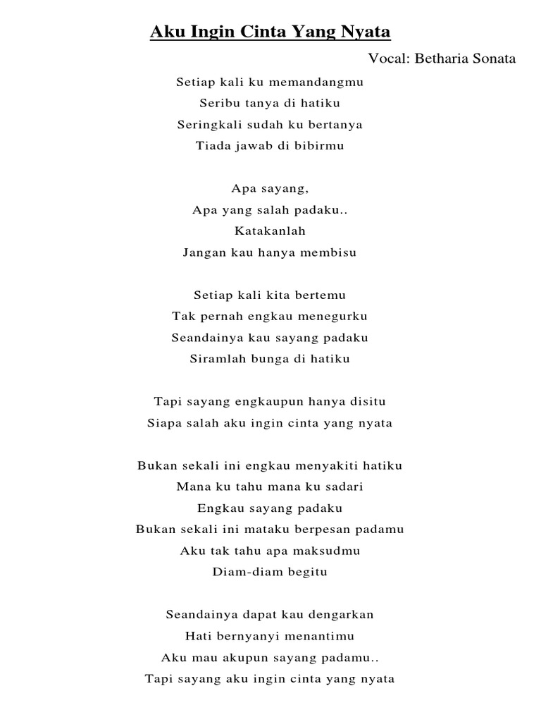 Lirik Lagu Kenangan