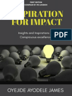 Inspiration for Impact-first Edition