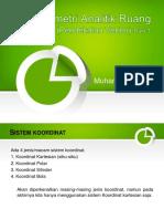 Geometri Analitik Ruang (Pendekatan Vektor) - Bag. 1