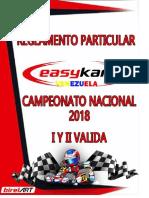 Reglamento Particular San Carlos 2018 I Y II VALIDA