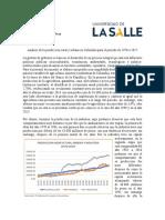 Análisis de la produccion rural y urbana en Colombia para el periodo de 1970 a 2017