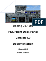Boeing 737-800 NG Panel Installation and Documentation