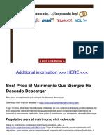 Documentop.com Best Price El Matrimonio Que Siempre Ha Deseado de 599185841723ddddc45ab46a