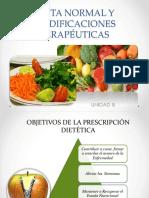 Unidad III Dieta Normal y Modificaciones Terapéuticas