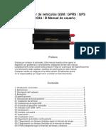 Rastreador de Vehículos GSM y GPRS y GPS