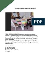 Contoh Teks Rekaman Percobaan Sederhana Membuat Taplak Meja
