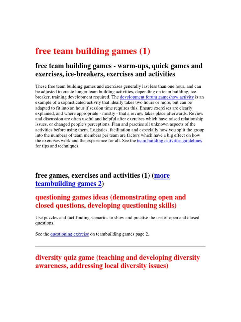 Teambuilding - what is it Teambuilding: scripts, exercises. Organization of Teambuilding