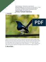 10 Jenis Burung Kicau Terbaik indonesia.docx
