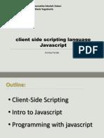 Minggu 3 - Client-side Scripting Dengan Javascript