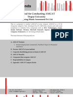 AMCAT Proposal - Thapar Univeristy