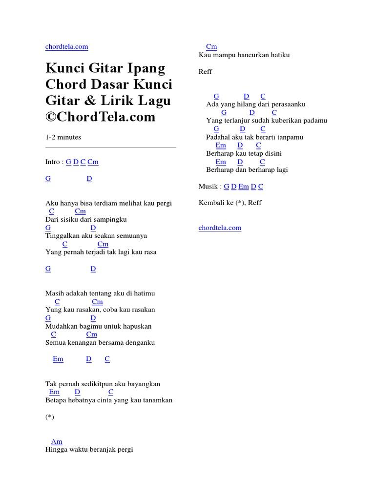 Kunci Gitar Sonia Gaun Merah Chord Dasar C Chordtela Com
