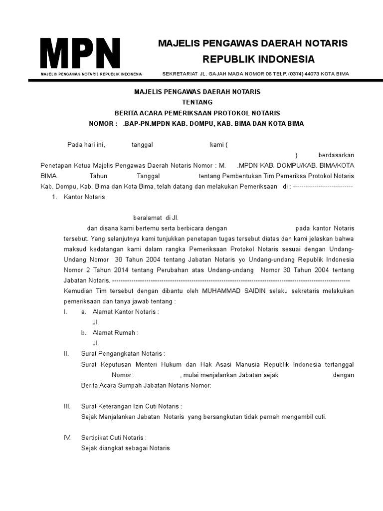 Contoh Laporan Bulanan Notaris Ke Mpd Kumpulan Contoh Laporan