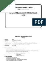 RPP SKI KELAS VIII MTS SEMESTER 1, 2.doc