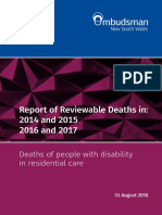 Report of Reviewable Deaths in 2014 2017
