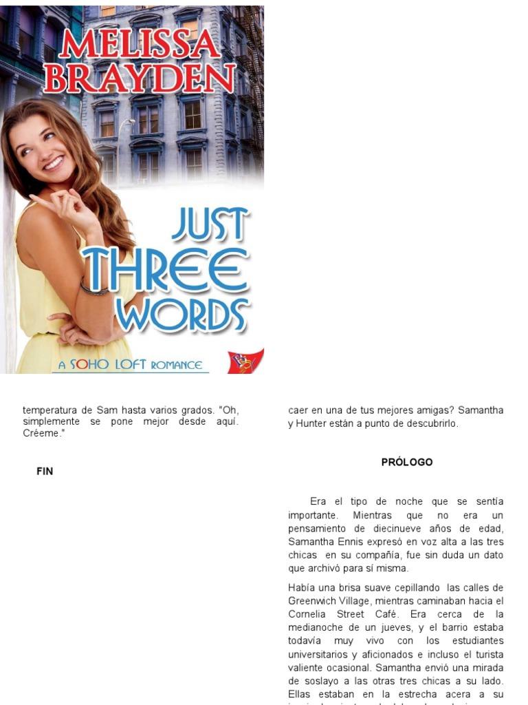 cdf6811c2 338605329 Just Three Words Segunda Entrega Trilogia Soho Brayden Melissa