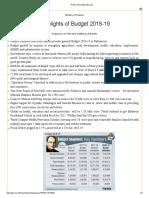 Press Information Bureau Budget Highlights