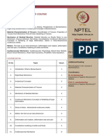 Biomechanics Syllabus