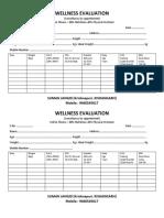 Wellness Evaluation