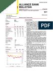 Alliance Bank Outlook